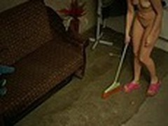 The owner of this terrible apartment was glad when he saw how neat this new girl was but we are pretty sure that he enjoyed her juvenile naked body shamelessly filmed by spy camera even more!