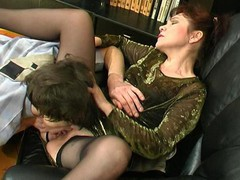 Experienced aged playgirl getting her mellow snatch licked and screwed hard