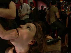 Hot pretty beauty screwed and dominated in real bondage!
