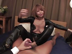 Welcome home honey! Before we go to bed, why don't I show u my recent leather body suit? And while we're at it, why don't u smack my tight butt hole and I'll ride your angry penis while u u play with my enormous jugs at the same time? We'll reach heaven before we call it a night, my dear hubby!