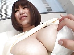 She's gorgeous busty and can't live without giving her large boobs for a good suck. Marie can't live without the attention this babe receives and this babe merits a lot greater amount then some teat sucking. See 'em and as things get hotter. Maybe this Japanese bitch will end up with semen all over her breasts