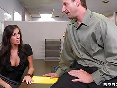 Look at that sexy brunette hair telling her boss to come in the storage room so that babe can castigate him for trying to fuck them. 2 of her friends come along and they acquire excited on that chaps cock. Are they going to acquire some schlong juice on their sexy lips or some hard schlong in their tight pussies?