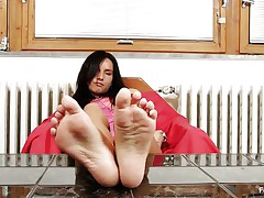Sharon loves sucking, almost all especially her toes. Watch this sexy brunette hair with lengthy black hair and sexually excited face as that babe sucks her sexy feet and shows us what that babe is capable of, do u think that that babe would engulf 'em with even more pleasure if that babe had some semen on them?