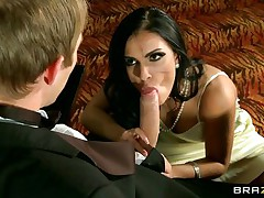 See this hot babe playing her card while this guy cheats and begins shooting bodyguards. This horny slut is begging for his huge penis so this babe takes his panties off and begins sucking on it. Is this babe going to acquire some hot jizz inside her mouth or will this babe acquire a hard penis inside her tight pussy?