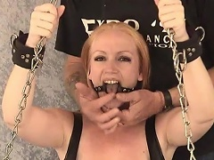 Take a look at this blond bitch Tori as that babe is shackled to the...