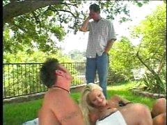 Good allies having a busty blond picnic