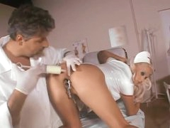 Biggest milk enema followed by nurse anal sex