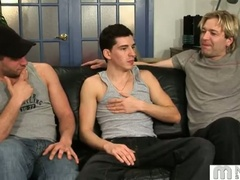 Threeway jerking studs daniel sinclair, brad and deano valentine