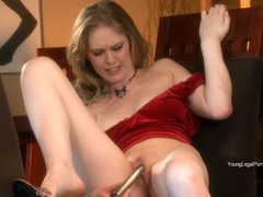 Diane loves her fresh dildo