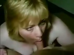 Mature busty woman kills guy, teasing his palpitating penis with her large wet mouth and lengthy soft tongue.