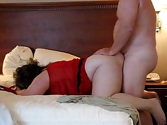 A fatty duet acquires their big bodies to come together with the hooking of his schlong inside her pussy. She's bent over and willing to handle the thrusts. Their corpulent jiggles all the way to a pair of nice orgasms.