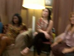 Sexually excited drunk gals letting loose at a party with the dancing bear crew