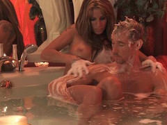 Pair have a joy erotic washroom time soapy massage