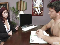 This hot brunette hair MILF cannot stop herself from reacting to the juvenile chap sitting across from him. therefore, that hottie moves in for the kill and soon sufficiently that hottie has him exactly where that hottie wants. Unable to stop himself. Once that hottie have her, this chab will do anything that that hottie desires him to do and then some.