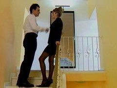 Busty Secretary Sarah Acquires Drilled