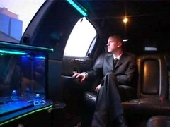Hot homosexual collision in driving limo