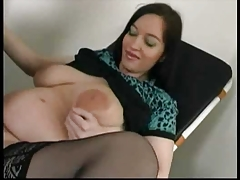 Preggo Stella fucked by her old Doc...F70