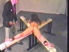 caning this serf girlvery hard-she cries