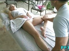 Slutty babe massaged & pounded