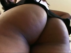 Cute ebon aaliyah jiggles her booty and sucks cock